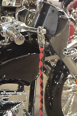 Motorcycle Biker Get Back Whip Genuine Leather 42 Long Black /& Red
