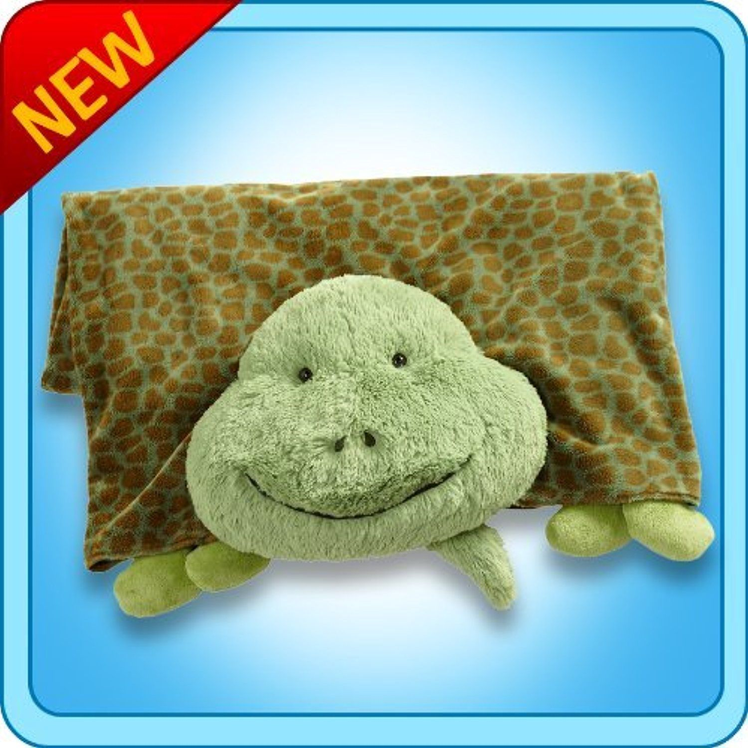 my pillow pets turtle blanket green