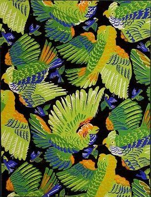 """""""Perroquets"""" 1930 par Raoul Dufy. textile design  gouache on paper by Raoul Dufy for Bianchini Ferier"""