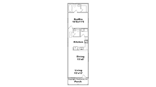Narrow One Bedroom Apartment Floor Plans Google Search 1 Bedroom House Plans Apartment Floor Plans House Plans