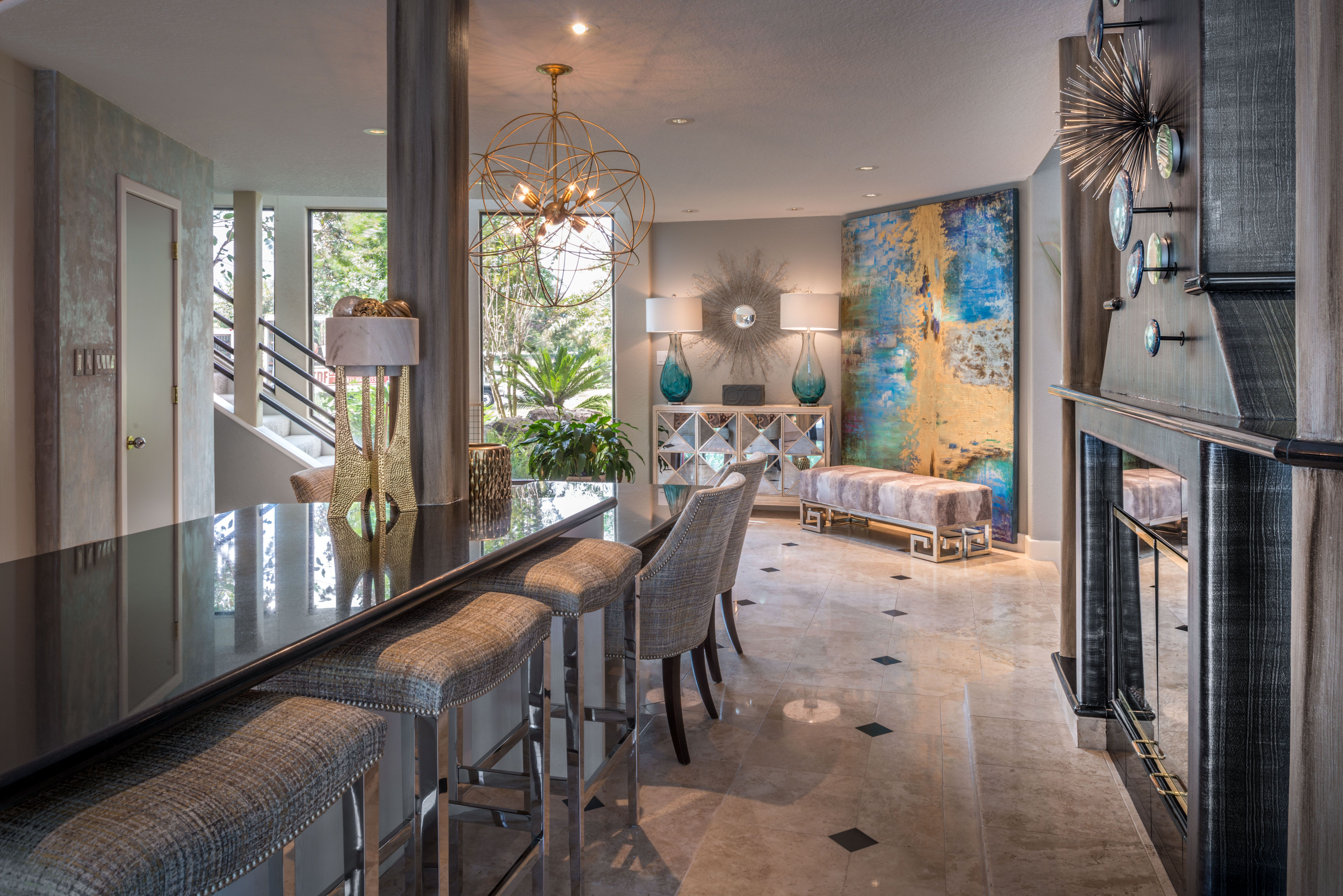 Designed by The Design Firm in Stafford, Texas #interiors #interiordesignideas #design #interiordesign #interiordesigners #kitcheninspiration #kitchenisland #openconcept