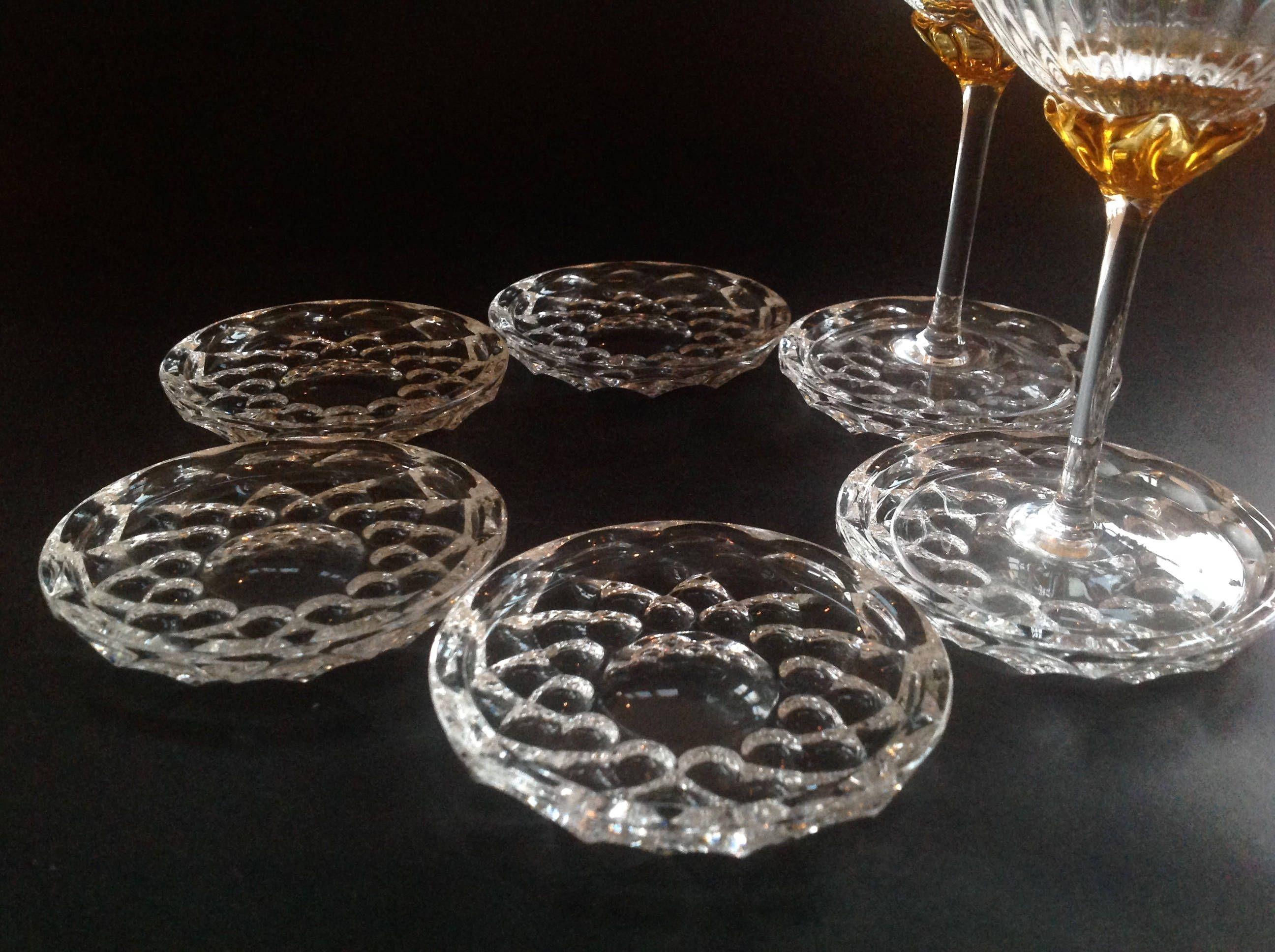 Vintage Small Plates Coasters Vintage Glass Coasters Wine