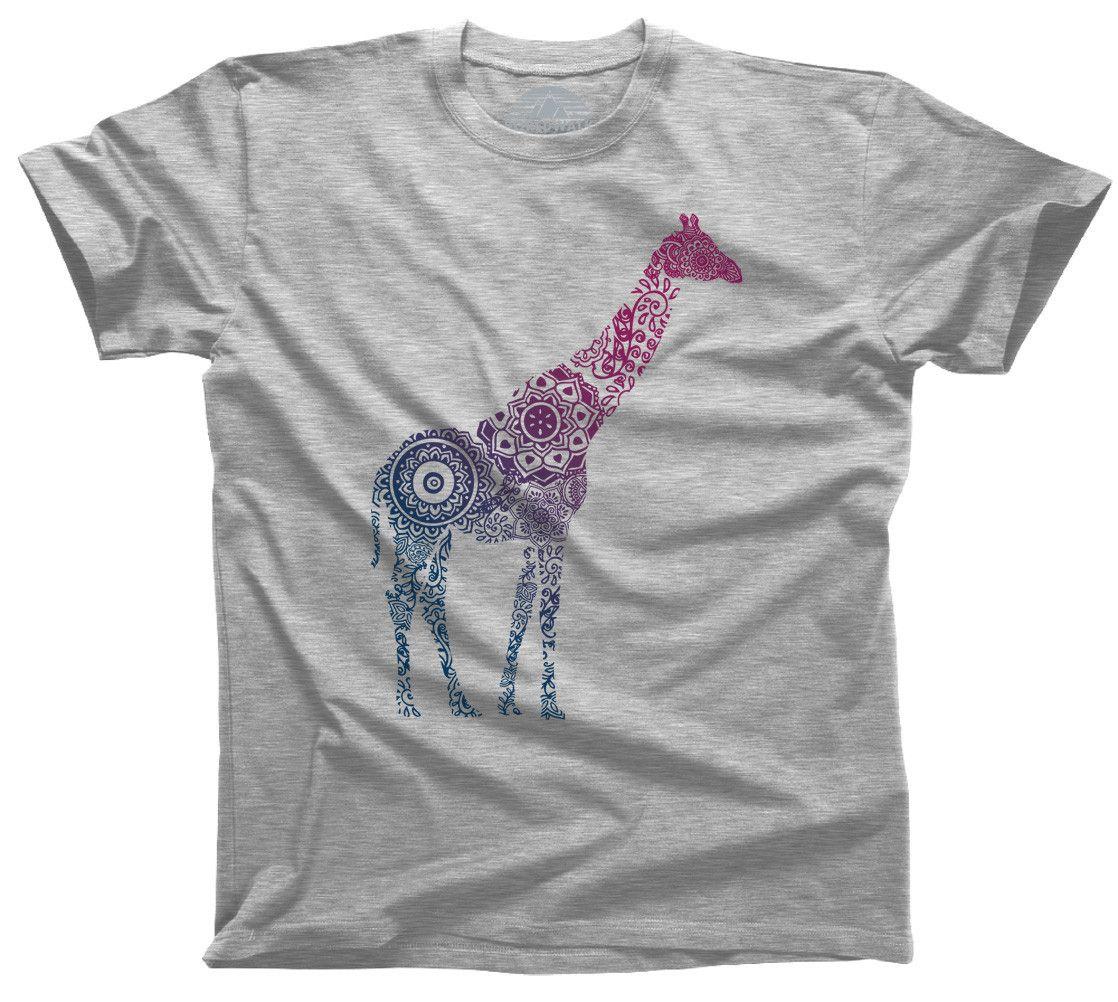 Men's Mandala Giraffe T-Shirt