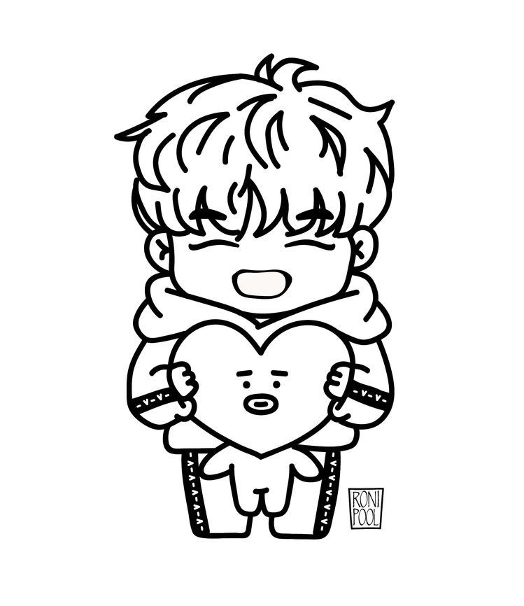 Pin By Natalie M On Dibujo In 2020 Chibi Coloring Pages Bts Fanart Bts Drawings