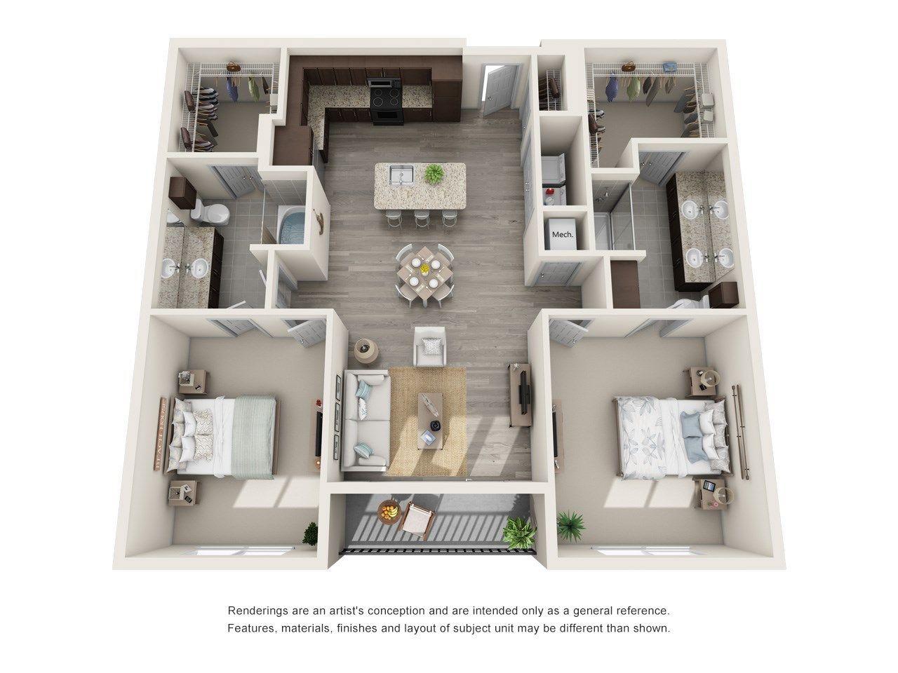 Floor Plans Of Helios Apartments In Englewood Co Luxurytwobedroomsapartment House Floor Design Sims House Plans House Plans