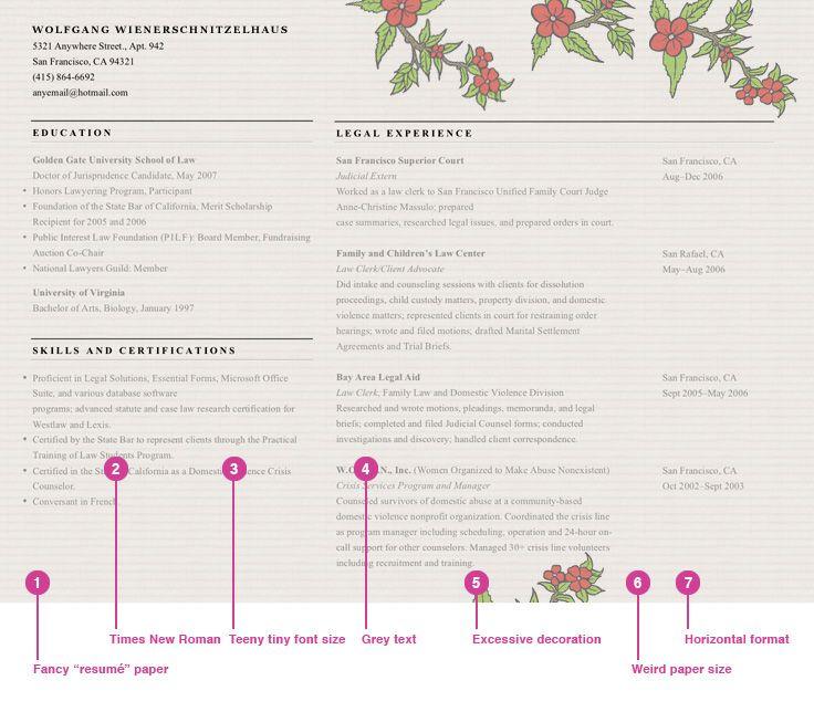 The 7 deadly sins of résumé design Resume design, Cover