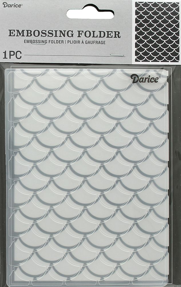 Your projects will look magical when you use the Mermaid Scales Embossing Folder by Darice. Included in the package is one embossing folder that measures 4.25