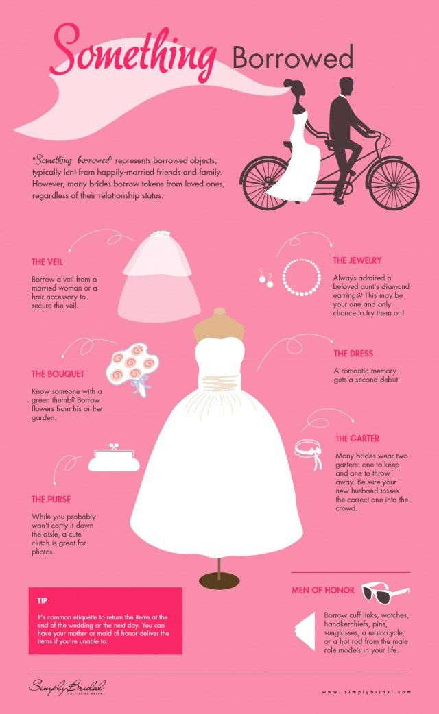 Something Borrowed For Your Wedding Infographic