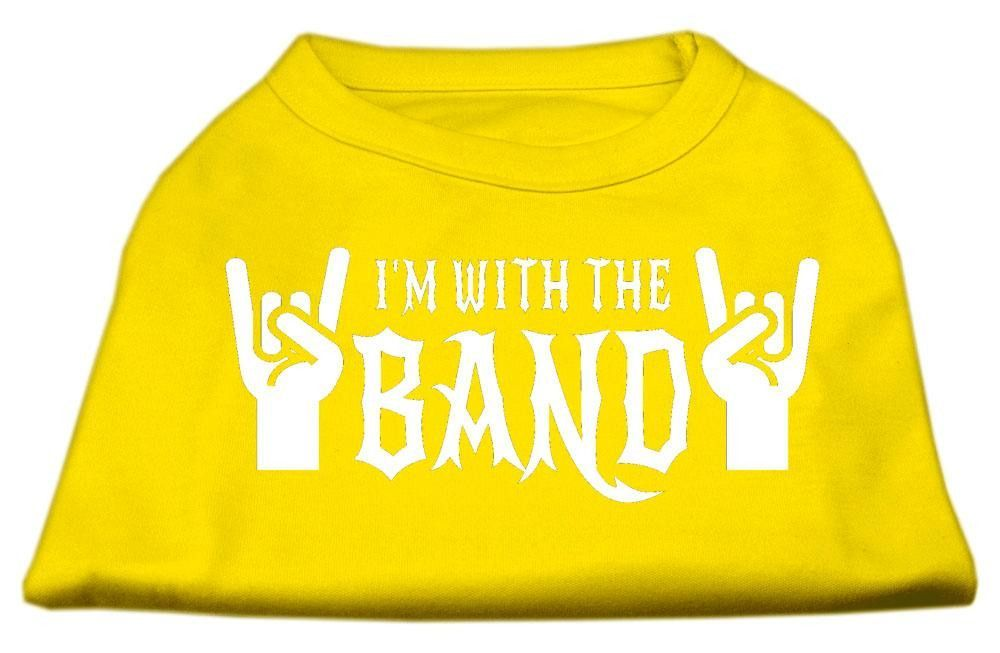 With the Band Screen Print Shirt Yellow XXXL (20)