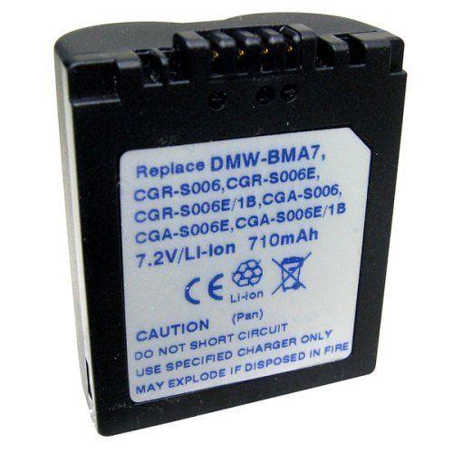 Batería panasonic dmw-bma7 cga-s006 cga-s006e cga-s006e//1b