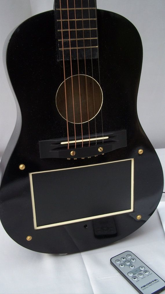 Fabulous picture frame acoustic guitar for your digital pictures and ...
