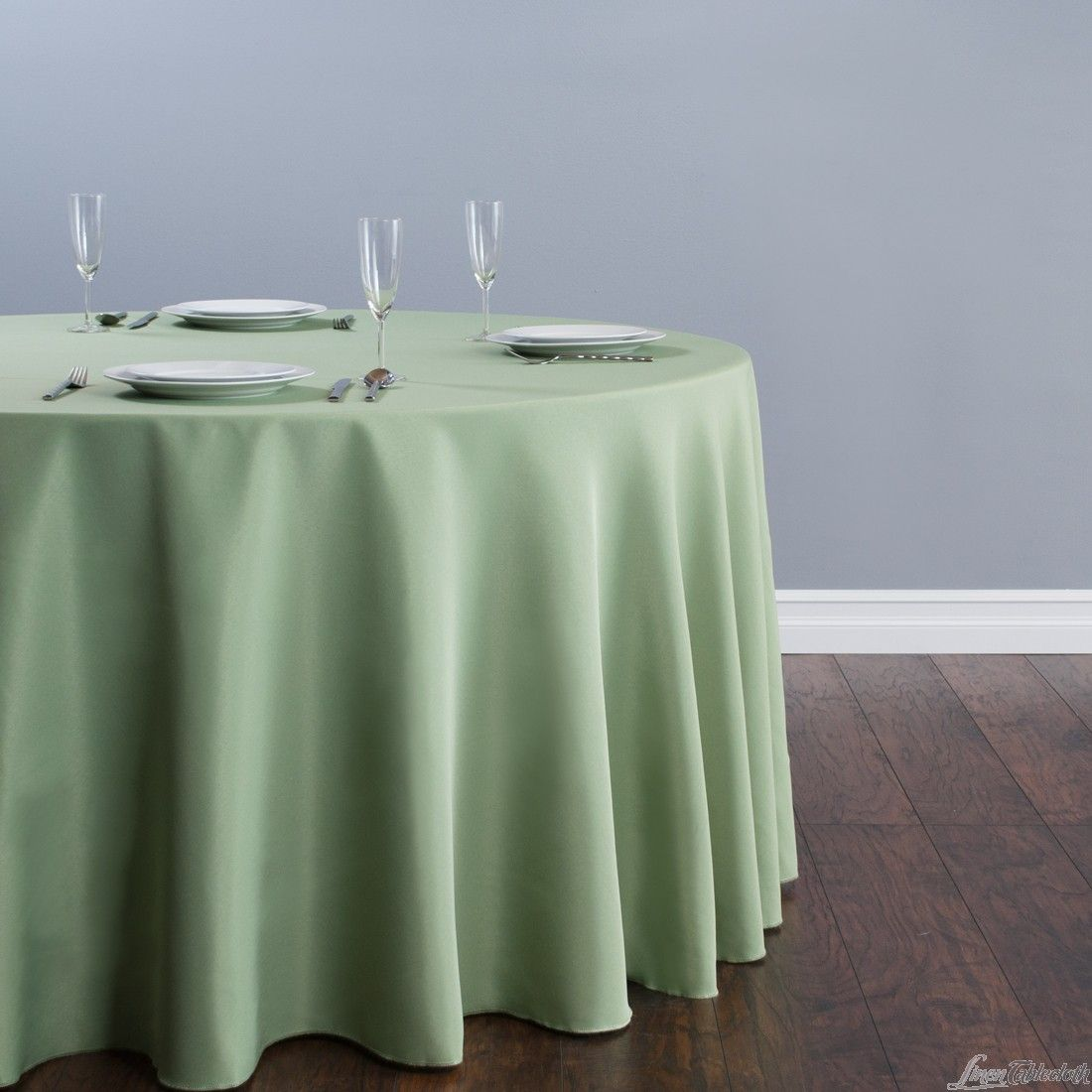 Reseda 120 In. Round Polyester Tablecloth By LinenTablecloth!
