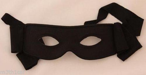 Masquerade Half Face Zorro Mask Bandit Ninja Lone Ranger Costume Eye Mask