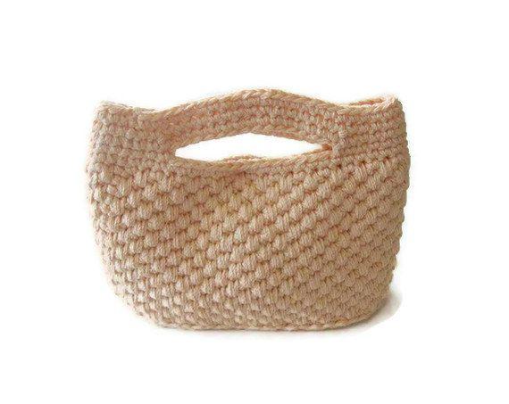 Crochet Handbag Crochet Bag Crochet Clutch by Iovelycrochet, $47.00