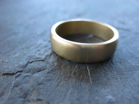 14K Yellow Gold Men's Ring by Erica Freestone