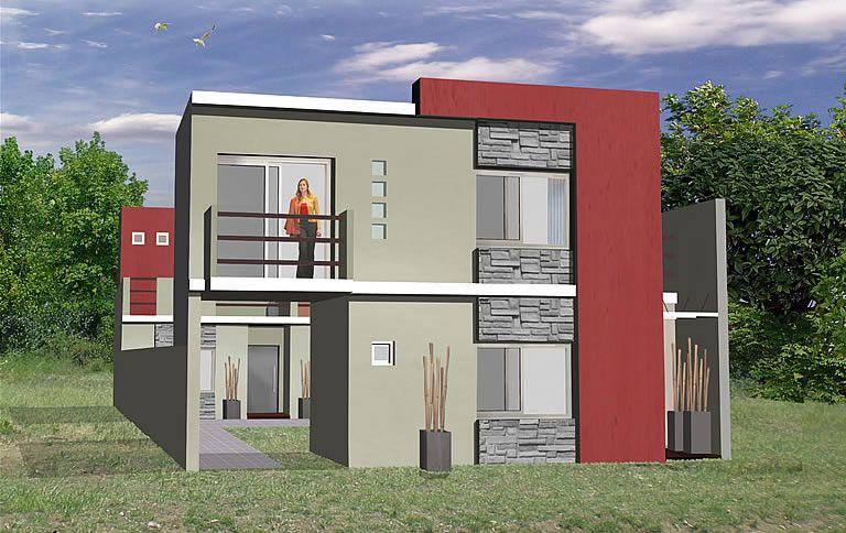 Frente de duplex modernos buscar con google duplex for Duplex con garage