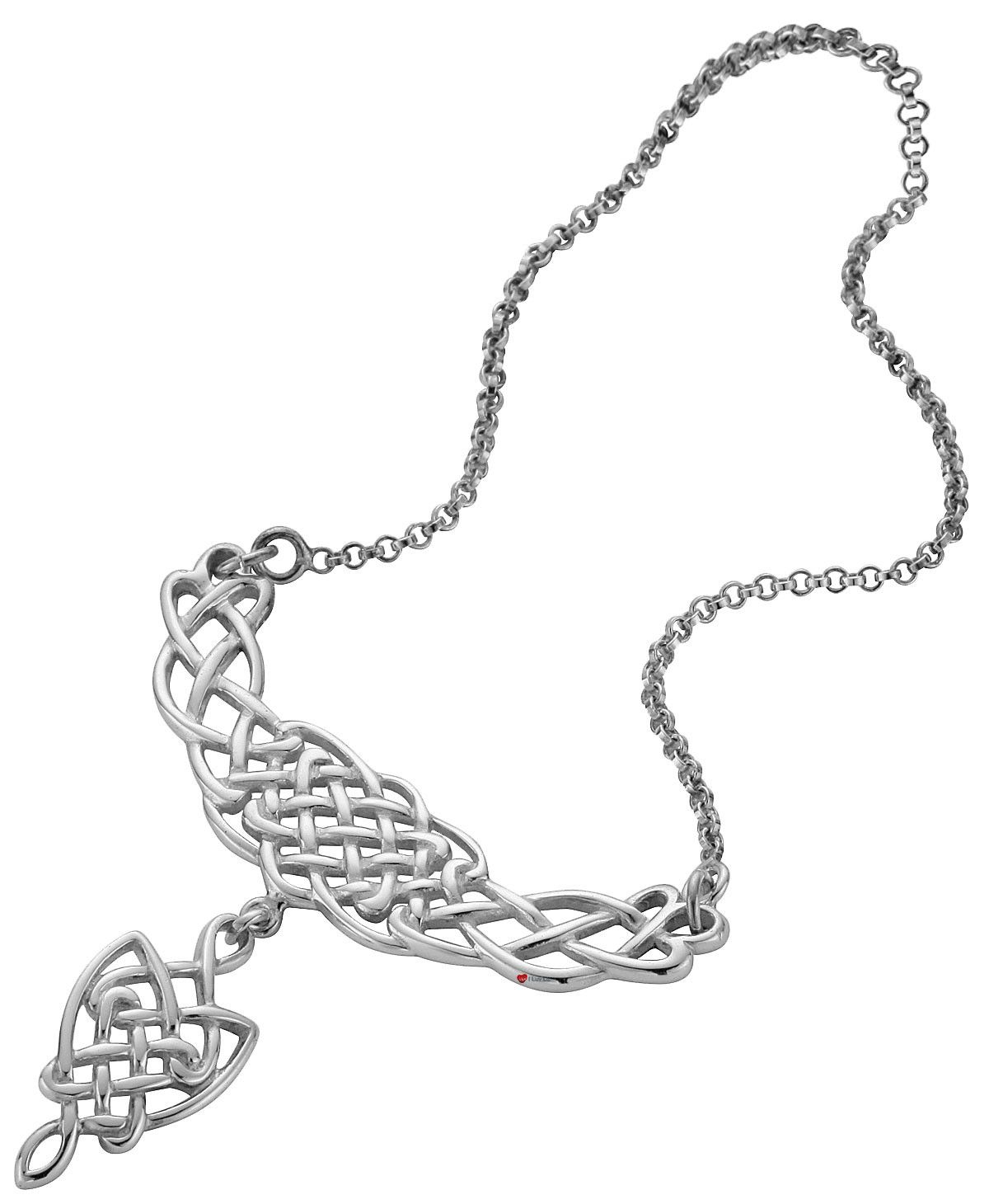 Necklace Crafted In Sterling Silver Celtic Open Interlace