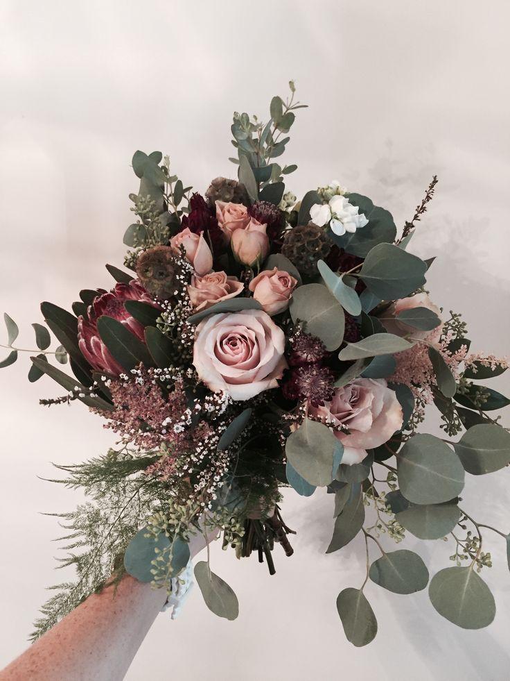 Photo of Insta: myafreyflowers Dusty pink bridal bouquet.design by Mya Frey