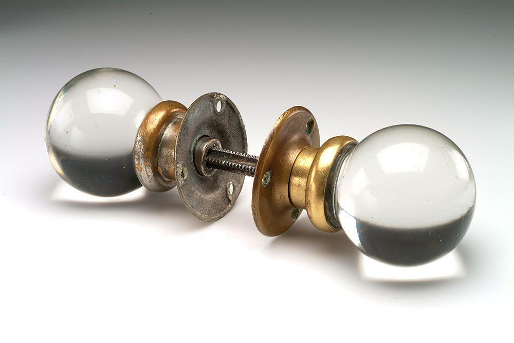 unusual vintage glass door knob set pairpoint 12500 via etsy - Antique Glass Door Knobs