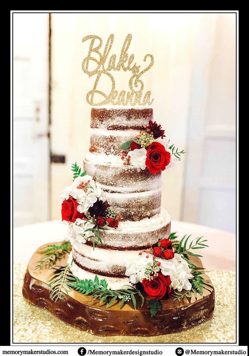 Custom name cake topper wedding cake topper glitter cake topper