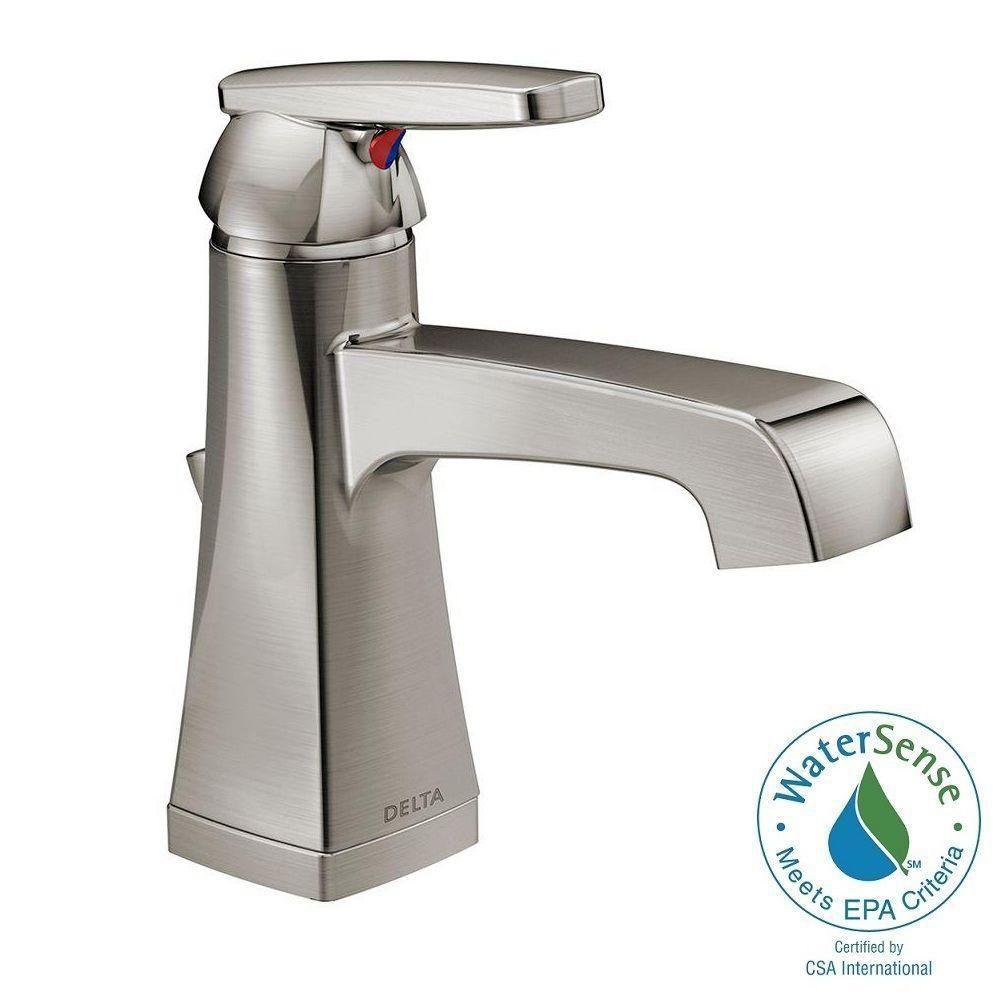 Delta Ashlyn Single Hole Singlehandle Higharc Bathroom Faucet In Amusing Delta Single Hole Bathroom Faucet Inspiration