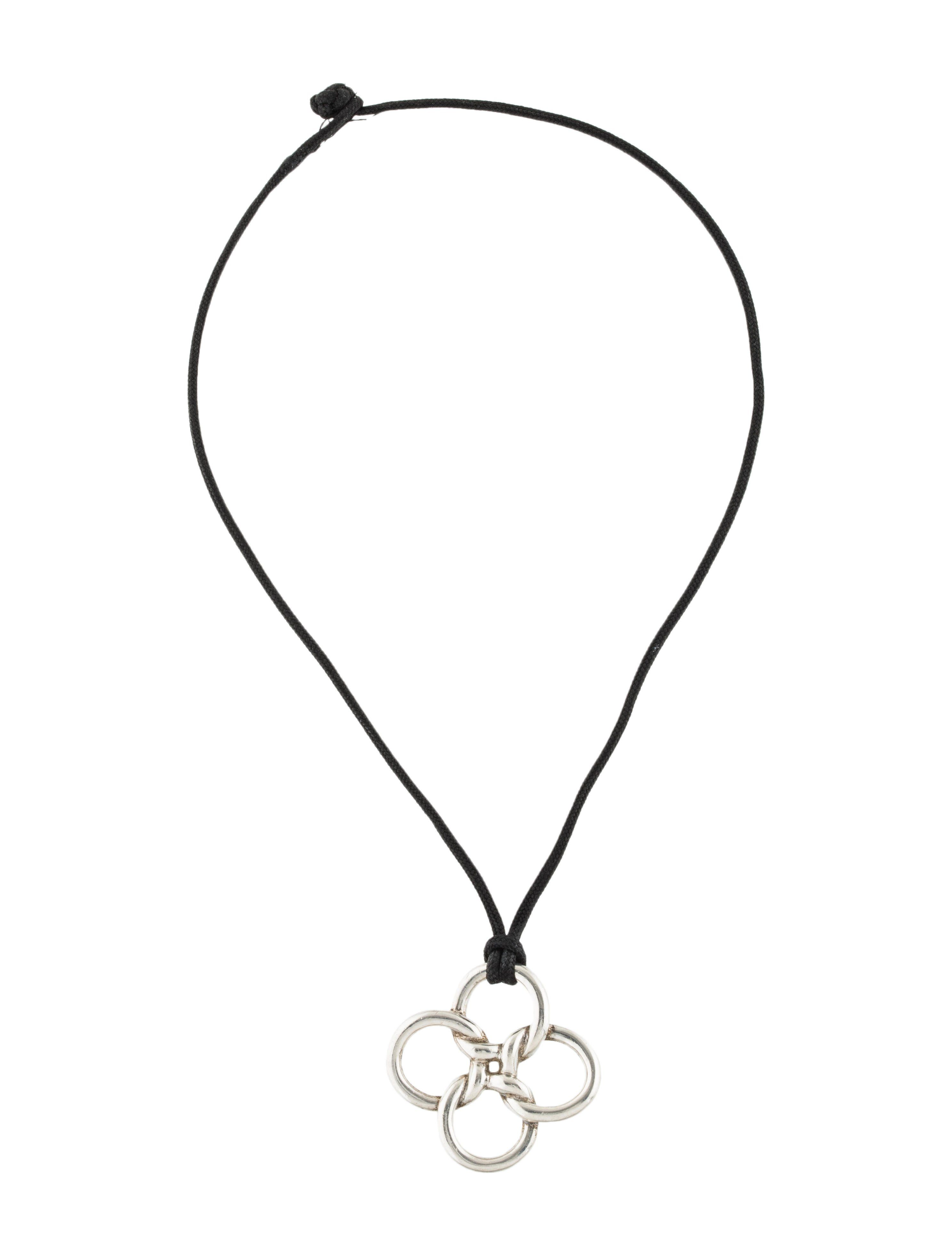 3dd4cbce4 Quatrefoil pendant at cord featuring luck motif with toggle closure.tiffany- co#silver#Tiffany#amp