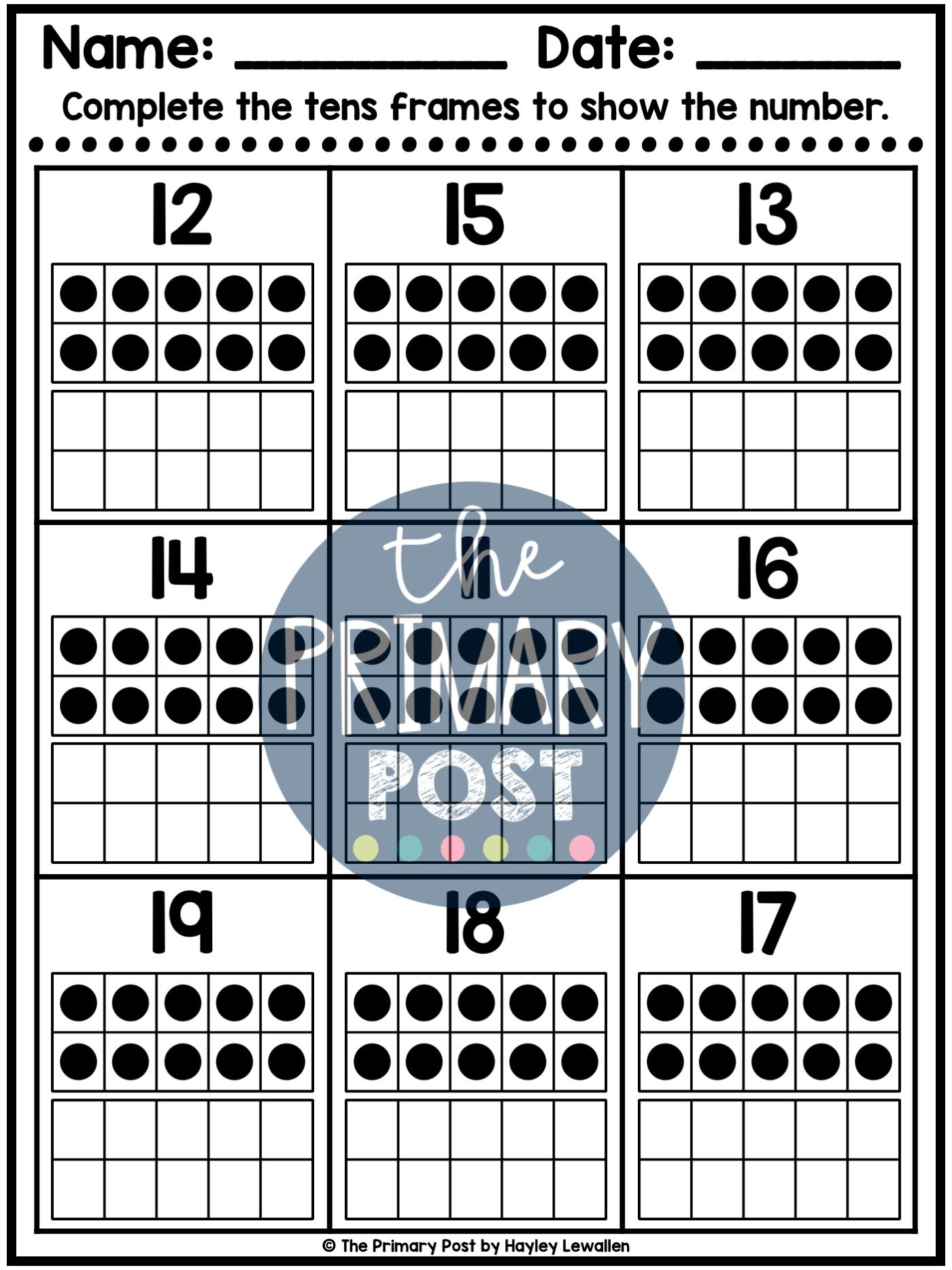 Decomposing Numbers 11 19 Worksheets Numbers Kindergarten Decomposing Numbers Kindergarten Decomposing Numbers [ 1867 x 1400 Pixel ]