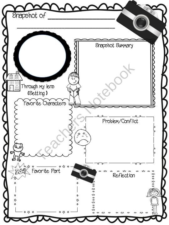 Snapshot of a Novel Book Report Template from Sweet Integrations - school book report template