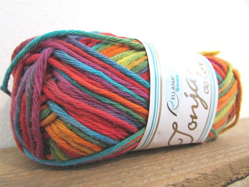 Wolle Garn Tonja Color Baumwolle 50g 85m Multicolor