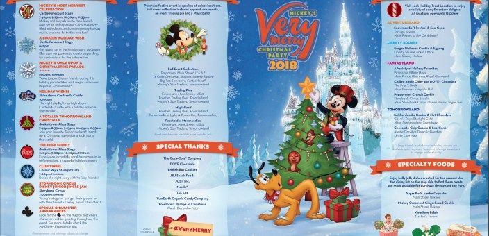 2018 Mickey\u0027s Very Merry Christmas Party map and guide now available