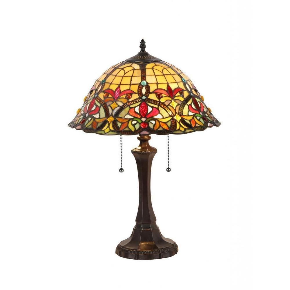 Tiffany Style Victorian Design 2-light Table Lamp | Overstock.com Shopping - The Best Deals on Tiffany Style Lighting