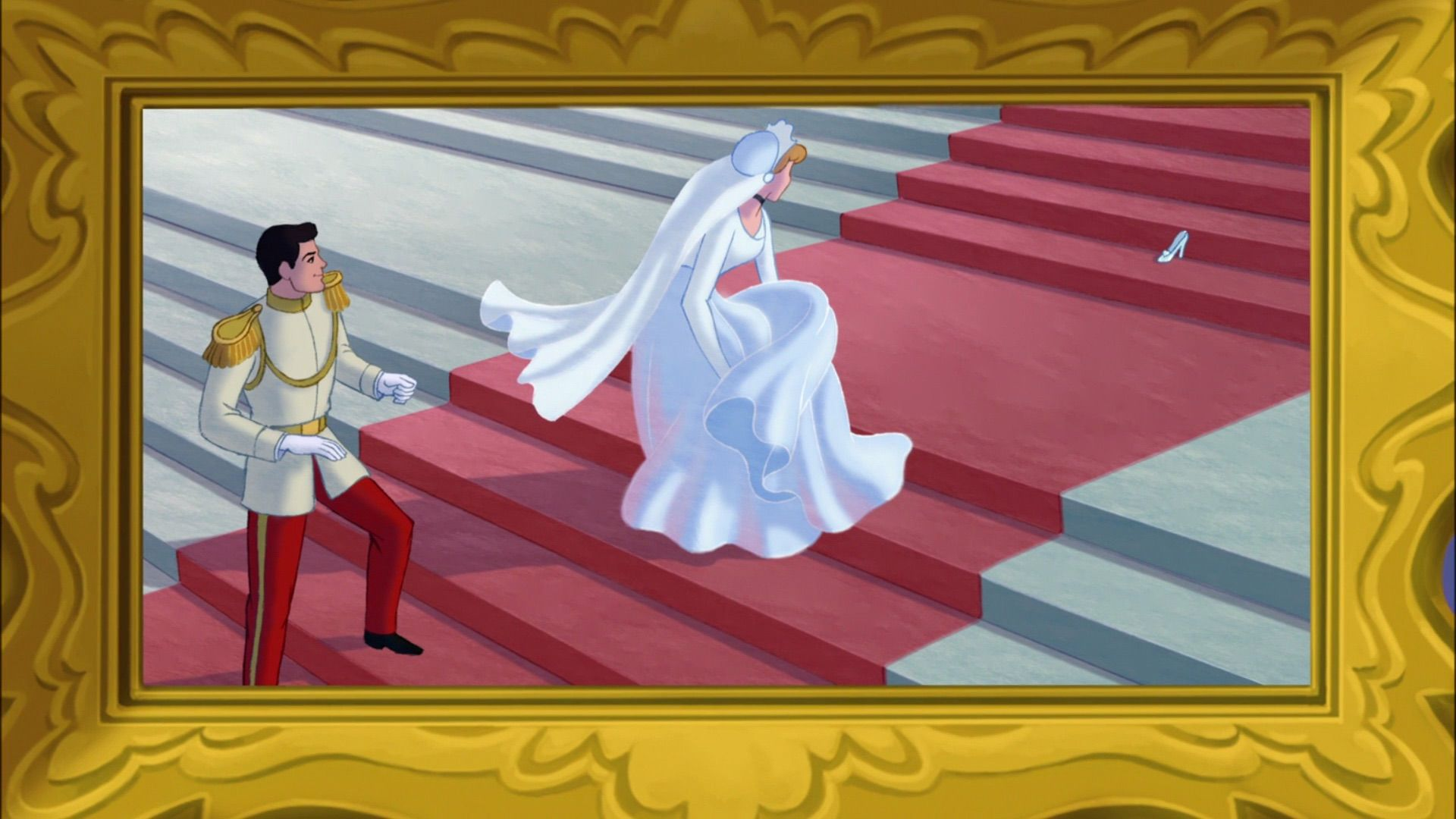 Royal Portrait Of Cinderella And Prince Charming S Wedding Day