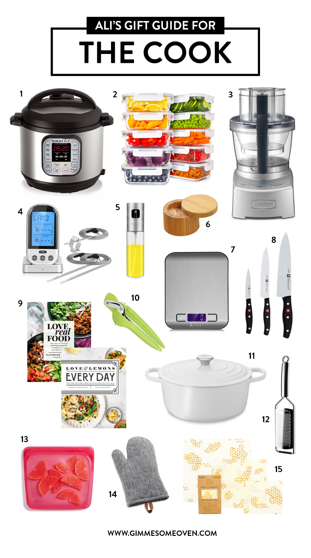 Holiday Gift Guide For THE COOK | Lots of fun gift ideas for friends who love cooking, entertaining, hosting, meal prep, gathering people in the kitchen and around the table. | gimmesomeoven.com #gift #guide #hostess #entertaining #home #decor #tabletop #cook #kitchen