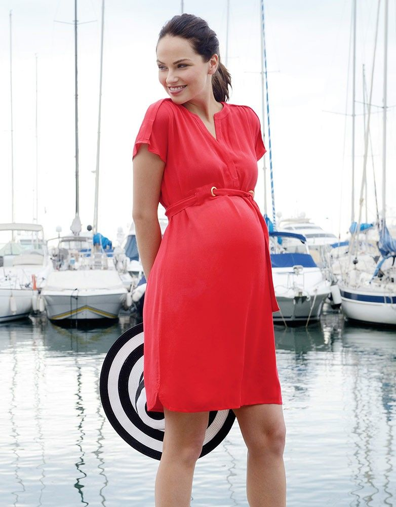 f1fc83776fe69 Coral Woven Maternity Dress | MATERNITY STYLE - DOWN BY THE RIVIERA ...