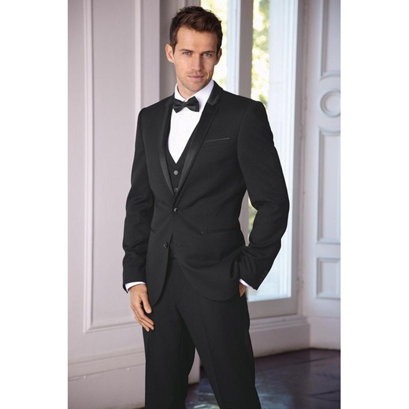 New Arrival Classic Grooms Tuxedos Black Wedding Suits For Men ...
