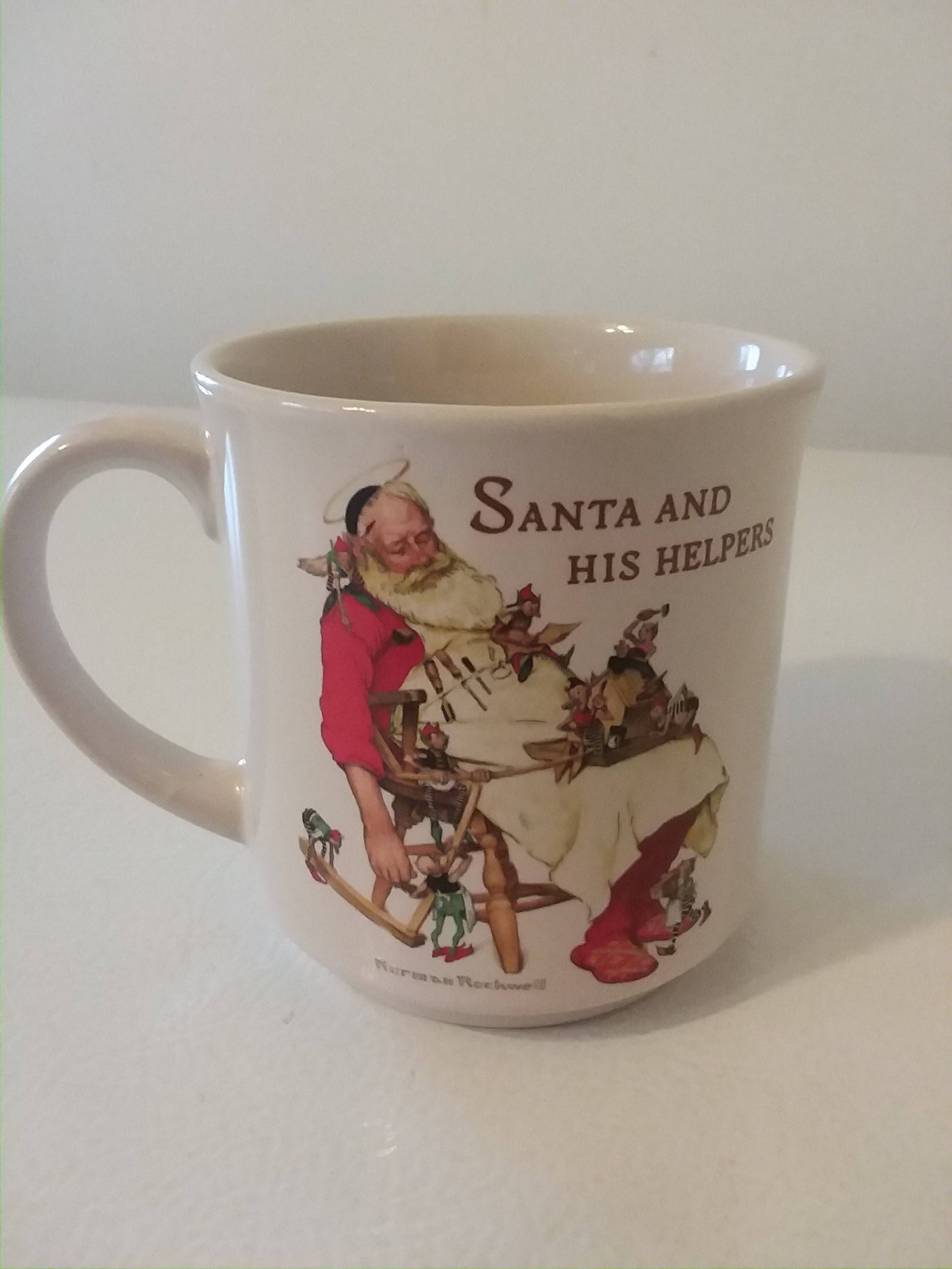 "1988 Hallmark Collectable MugNorman Rockwell's ""Santa"