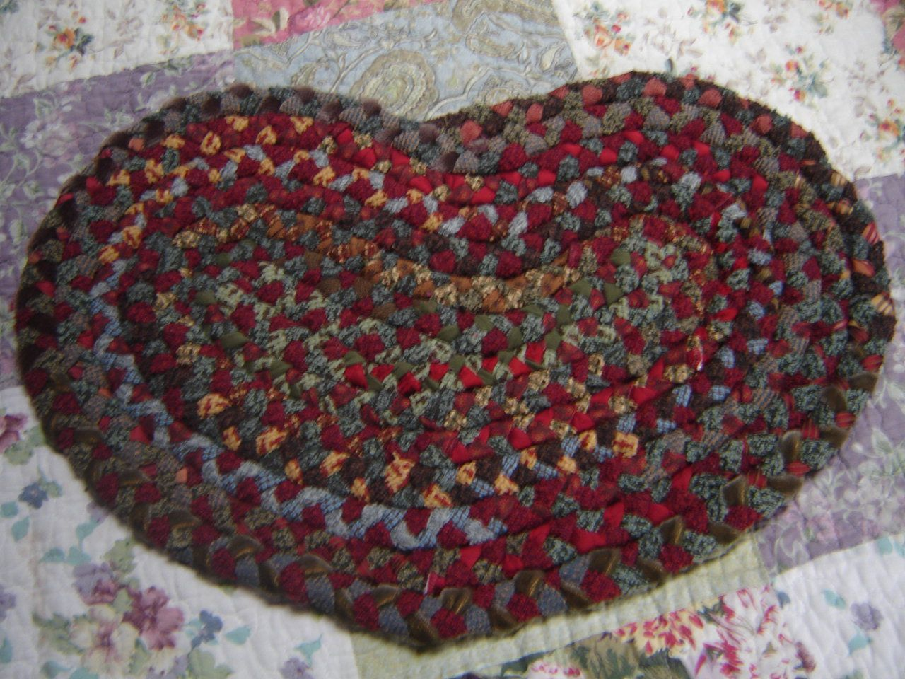 Heart Shaped Braided Rug