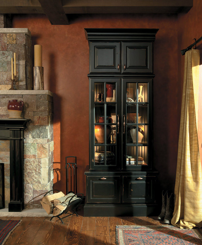 Knotty Maple Kitchen Cabinets: Tall, Dark And Handsome. Medallion's Taos Door Style