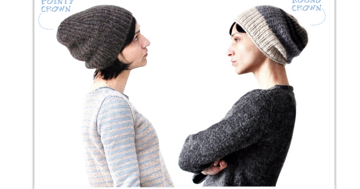 eac8d28c Knitting pattern for broken rib stitch hat, in 2 different crown versions,  by La Maison Rililie