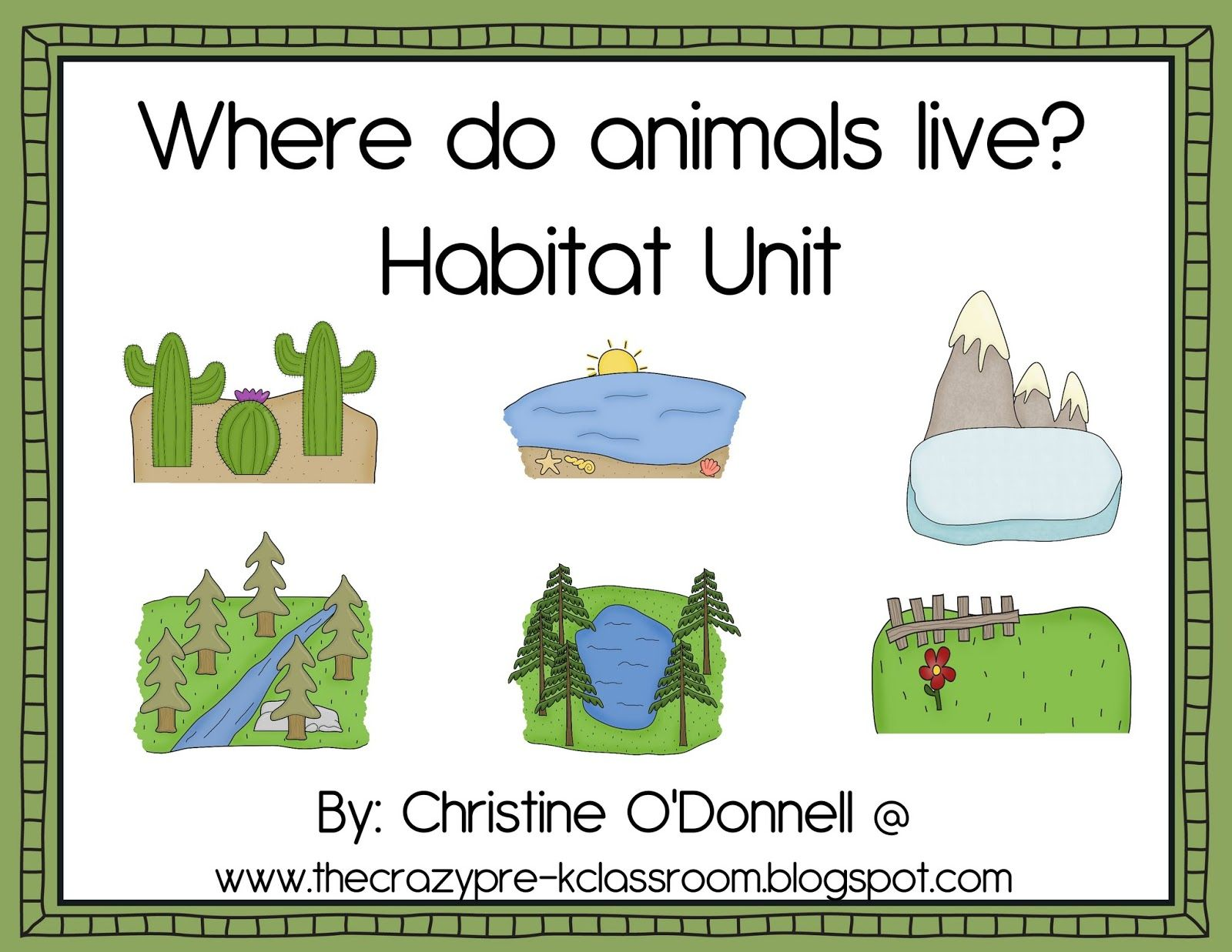 Animal Habitats Printables Product Where Do Animals Live 11 Habitats Animals Minibooks 206p Kindergarten Teachers Animal Habitats Vocabulary Cards