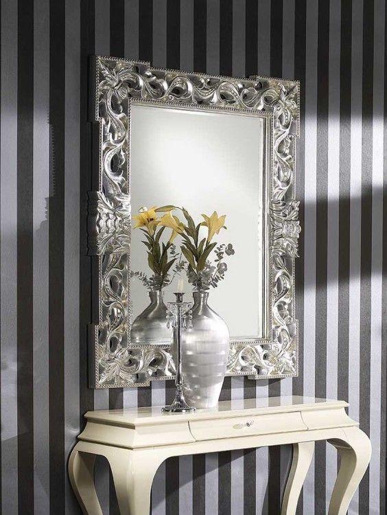 Espejos barrocos espejos pinterest espejo barroco for Espejos decorativos plateados