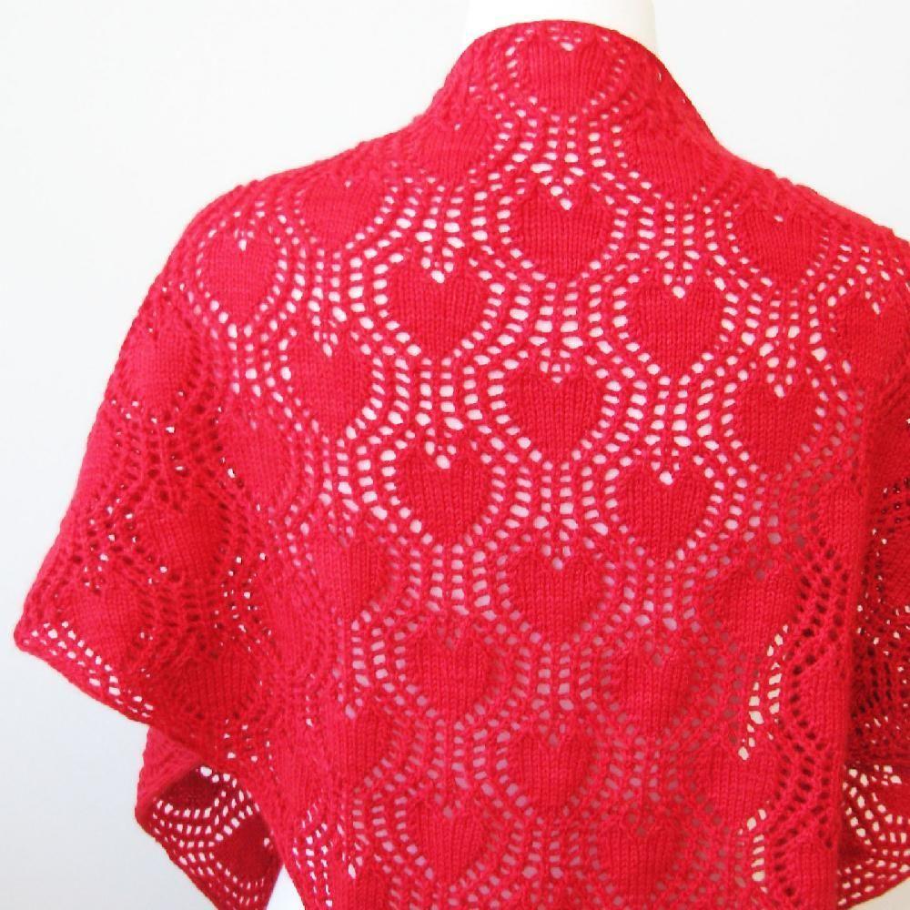 Dreamy Valentine | Heart patterns, Knit patterns and Shawl