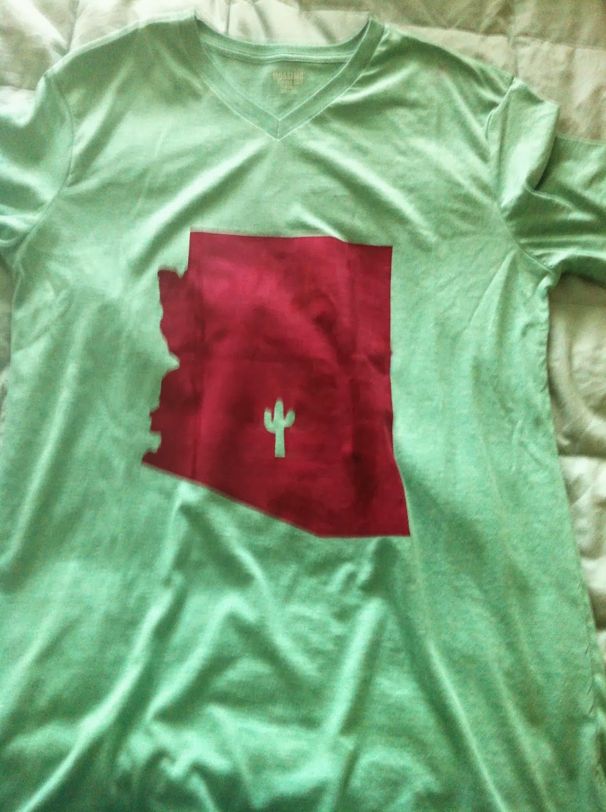 small craft projects - screen printed t-shirt