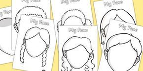 Blank Face Templates Free Blank Faces Templates Downloaded  Homeschooling  Pinterest .