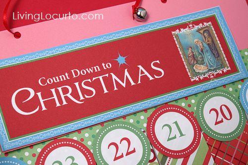 Free Printable Christmas #Advent Calendas by Amy at LivingLocurto