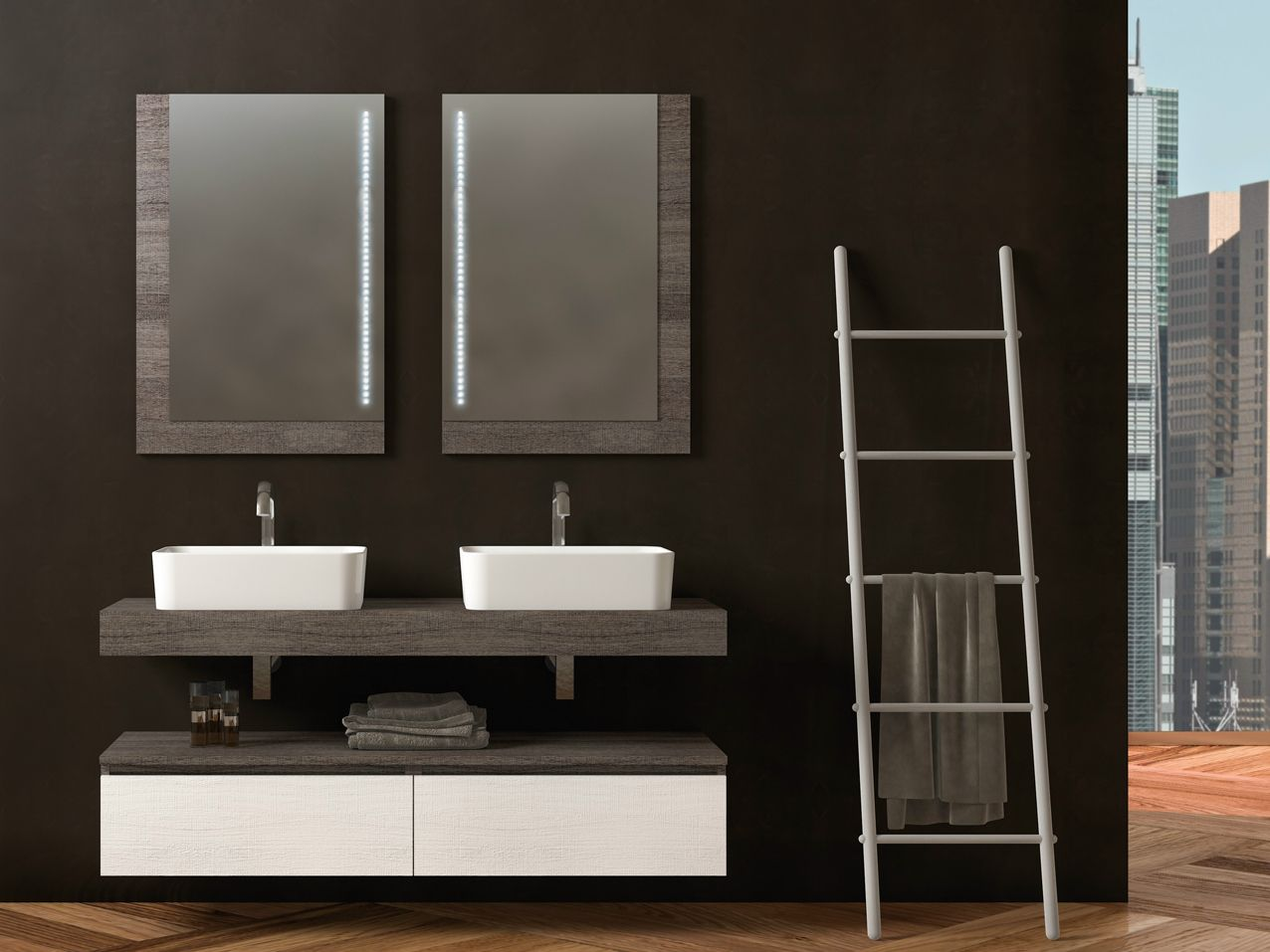 Mobili bagno moderni doppio lavabo mobile lavabo - Mobili per lavabo ...