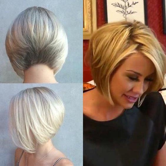 Hairstyles Stacked Bob beauty Pinterest Corte de cabello - cortes de cabello corto para mujer