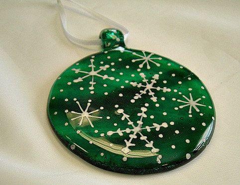 Slumped Ornament Fused Glass Ornaments Glass Christmas Decorations Glass Christmas Ornaments