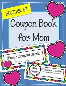 coupon book for momthe following coupons are includedone sparkling clean bathroomone