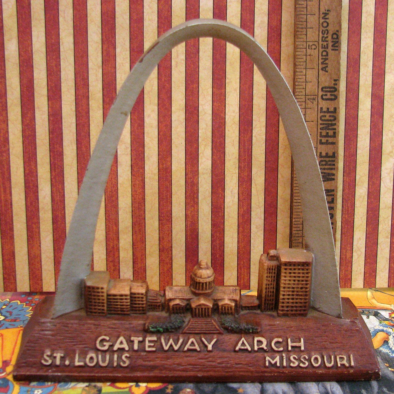 Vintage Cast Metal Souvenir Of The Gateway Arch In Saint Louis ...